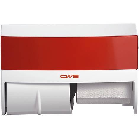 CWS Panel für Toilettenpapierspender Paradise mit Schloss Farbe: Rot